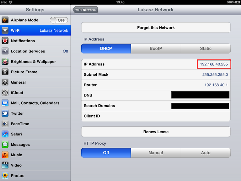 IP ON IPAD