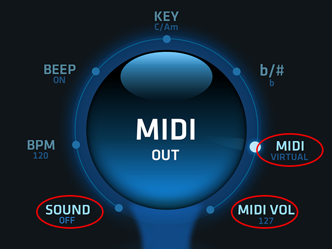 VIRTUAL MIDI SETTINGS IN Pro Chords